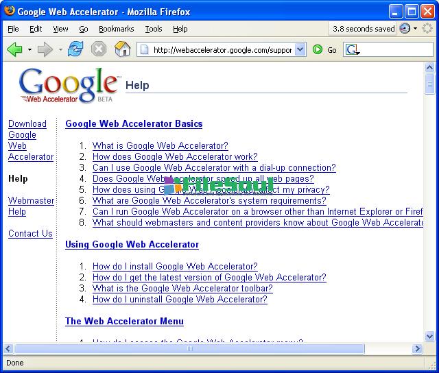 google web accelerator 0.2.70