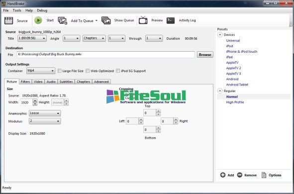 Download HandBrake 0 9 8 for Windows - FileSoul com