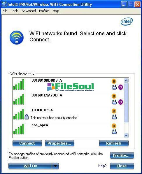 Intel PRO/Wireless and WiFi Link Drivers15.8.0 XP 64-bit screen capture 0