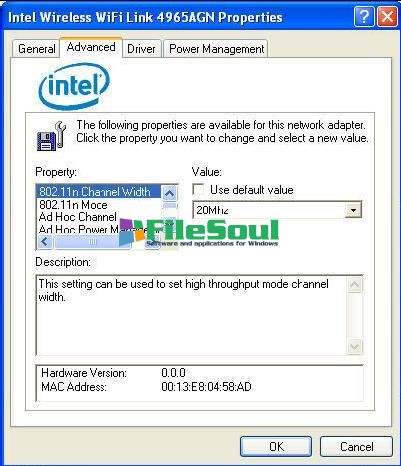 Intel PRO/Wireless and WiFi Link Drivers15.8.0 XP 64-bit screen capture 1