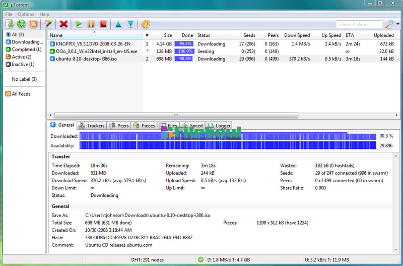 how to use bittorrent to download software